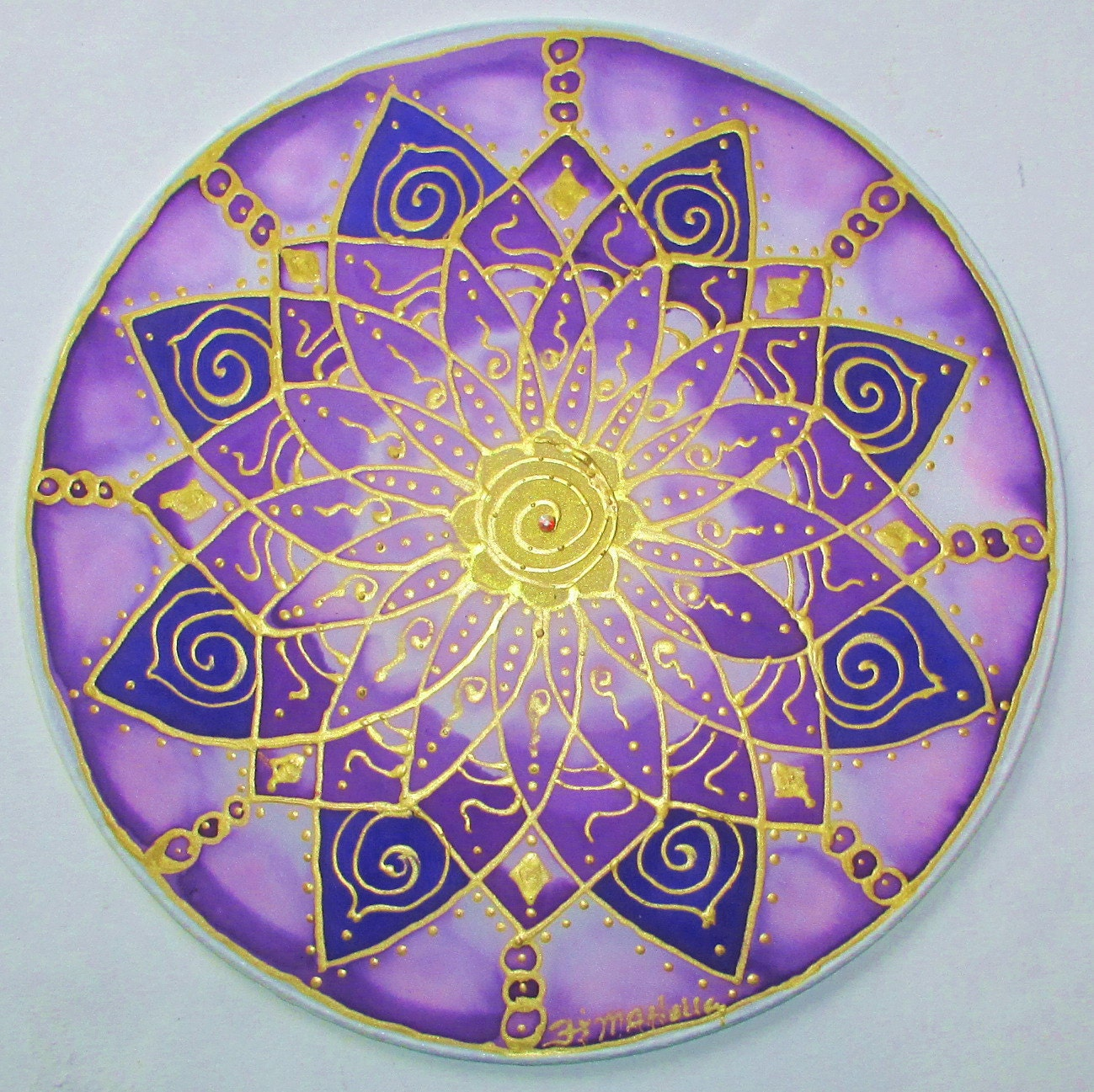 Crown chakra mandala mandala art chakra art by ...
