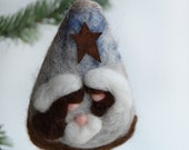 Nativity -  Nativity Ornament -Christmas Nativity - Felted Nativity