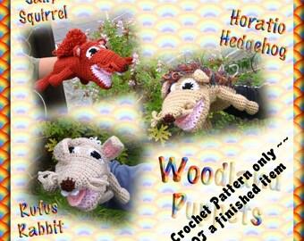 PDF Crochet Pattern Woodland Puppets