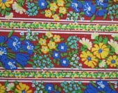 Vintage Kmart cotton floral fabric from the 1970's in a 4 yard length.