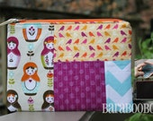 Zippy Zipper Pouch Case Matryoshka Dolls Riley Blake Linen Cotton  Stocking Stuffer