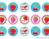 """So Sweet Cherry and Berry 1 Images Digital Download for 1"""" Bottle Caps (4x6)"""