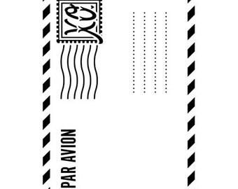 AIR MAIL Embossing Folder by Darice