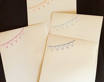 Bunting 2 Letter/Writing Set