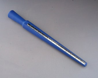 10 inch blue plastic ring mandrel, ring stick, ring sizing tool, jewelers tool