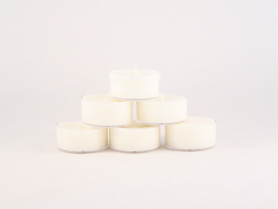 Peppermint Soy Tea Light Candles--Set of 6