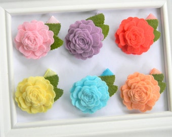 Felt Flower Clippie -Felt Flower Hair Clip