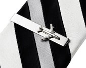 Airplane Tie Clip - Tie Bar - Tie Clasp - Business Gift - Handmade - Gift Box Included