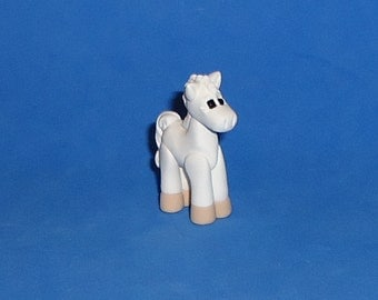 Polymer clay Little White Horse