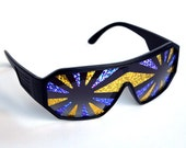 Rasslor Purple and Gold Sunglasses