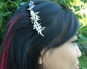 Spiral Shell, Coral and Pearl Mermaid OOAK hair comb