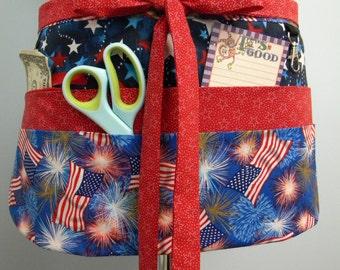 Teacher Crafter Vendor Utility Apron-Stars and Stripes
