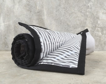Padded Changing Pad w elastic strap / Easy to Clean / Grey with Black Accent / HighpantsBaby / mrHighpants