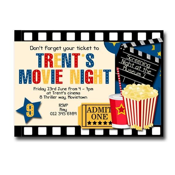 Items Similar To Printable Movie Night / Cinema Birthday
