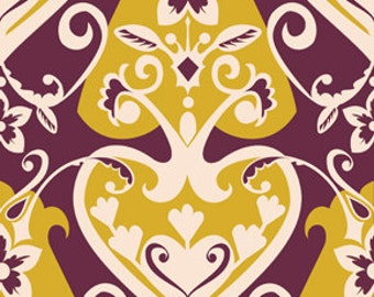 90410- Anna Maria Horner Innocent crush -Queen of hearts in plum - Home Dec fabric  - 1 yard