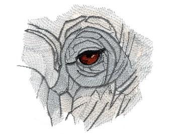Elephant Eyes Embroidered Flour Sack Hand/Dish Towel
