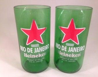 Heineken 'Cities of the World' Rio De Janeiro Recycled Glasses - Set of 2