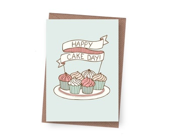 SALE Cake Day Birthday Card