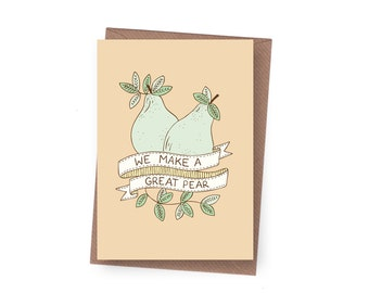 SALE Great Pear Greeting Card