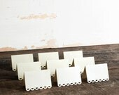 set of 100 ivory place cards for wedding, shower, party - tallulah