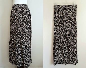 Vintage 90s Floral Maxi Skirt by Kathie Lee Collection