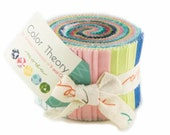 SALE - Color Theory - Ombres Junior Jelly Roll by V and Co. from Moda