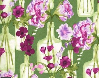 Vignette - Posie Bouquet - Leaf Green by Laura Gunn from Michael Miller