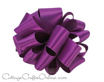 """CLEARANCE! Satin Ribbon 5/8"""" wide, Purple Orchid Double Faced Satin, 100 YARD ROLL, Offray, """"Royal Orchid #462"""" Double Sided Satin Ribbon"""