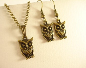 Cute Owl Jewellery Set EN94