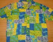 Mens Vintage 60's Catalina Bowling Style Floral Hawaiian Aloha Shirt - L -  The Hana Shirt Co