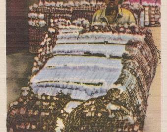 Cotton, Bales of Cotton - Linen Postcard - Unused (TTT)