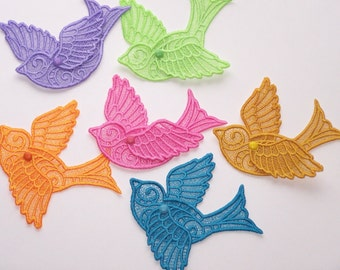 Beautiful Lace Soaring Birds--Love Birds-- Spring Birds--Articulated Wings