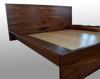solid walnut bed frame