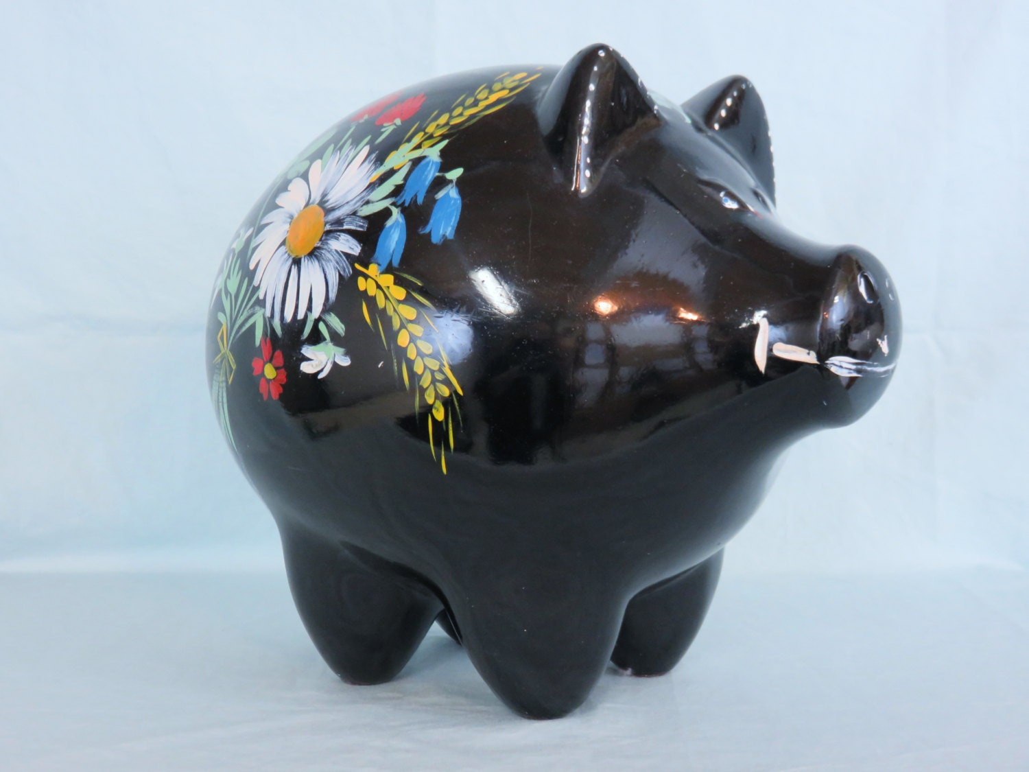 Extra Large Ceramic Piggy Bank By Flitlock On Etsy