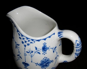 Furnivals Denmark Blue and White Creamer England