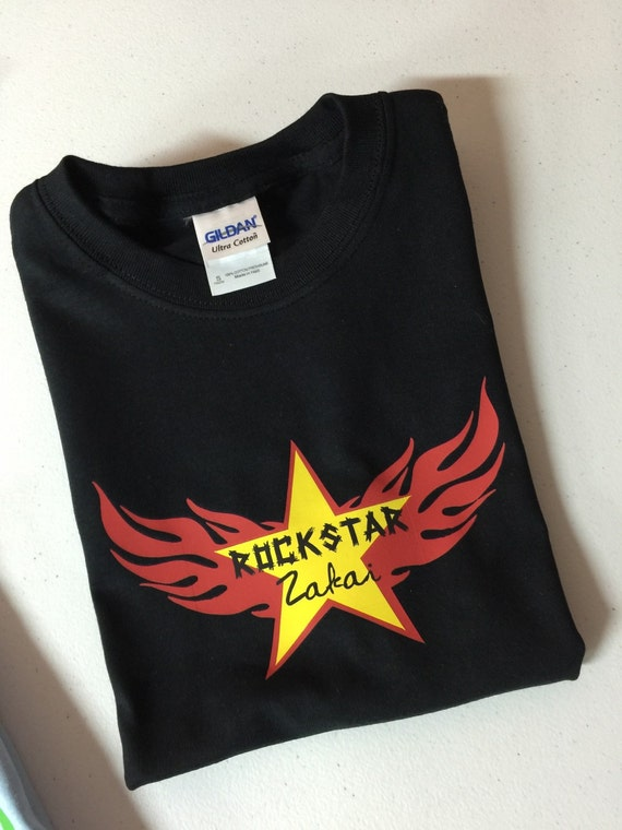 Personalized Rock Star Girl Shirt