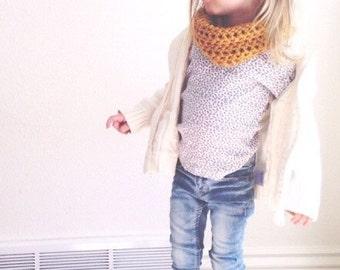 Toddler Infinity Scarf Mustard