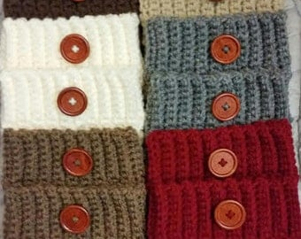 Sale! 6 Boot Cuffs Women's Crochet Boot Toppers, Boot Socks, Leg Warmers .Ready to Ship.(12.99 each)
