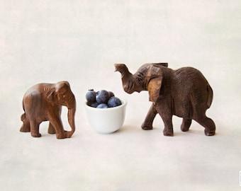 Elephants and Blueberries, Nursery Wall art, Elephant nursery art, Blueberry print, Art for kids room, Baby shower gift, Miniature art print