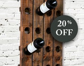 Wine Rack - Riddling Rack - Wood Wall Hanging  - Sale - Riddle - Champagne - Walnut - Espresso - Wall Mounted - Entryway - Kitchen - Gift