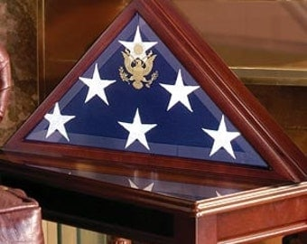 American Burial Flag Box, Large Coffin Flag Display Case