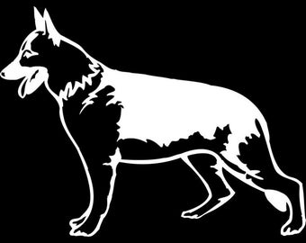 German Shepherd Vinyl Decal - German Shepherd Decal