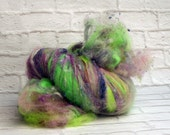 "Fiber Batt, Art Batt, Fiber Art Batt for Spinning or Felting- ""Spring Time Dream"", 4.4 ounces"