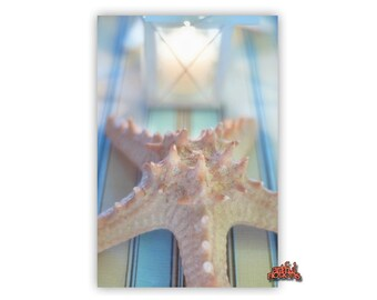Starfish Wall Picture, Bathroom Photography, Star Fish Decor, Seashell Wall Art, Pastel Art, Starfish Art, Bathroom Decor, Vertical Art