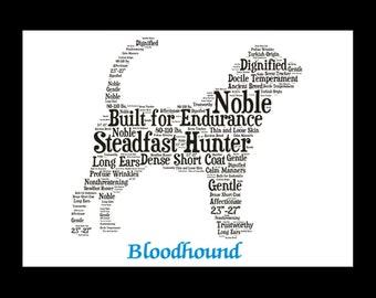 Bloodhound, bloodhound art, Custom, Personalize, Pet Gift, Print, Dog Art, Pet Art, Pet Memorial