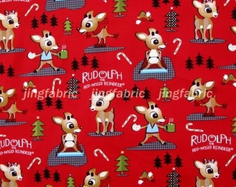 C120 - 1 meter  SDLP Cotton Fabric - Lovely deer and tree (145cm width)