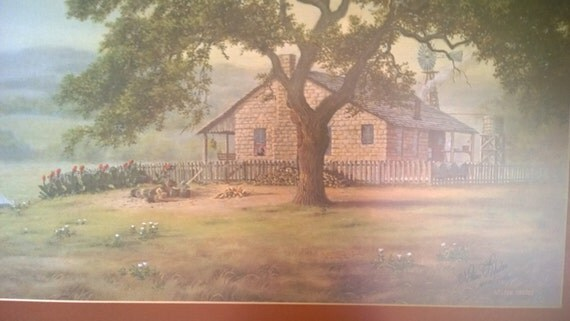 Vintage Art Print The Homestead By Nelson Rhodes