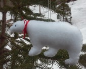 Primitive Christmas Polar Bear Ornament