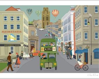 Bristol A4 Giclée Print  - Park Street