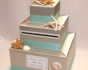 Elegant Custom made Wedding Card Box -BEACH theme